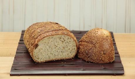 millet, pumpking seeds, sesame seeds, poppy seeds, millet seeds, crunchy, hearth, boule, loaf, artisan loaf, artisan loaves, 2 lb, 2 pound