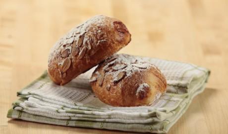 croissant, french, almonds, almond croissant